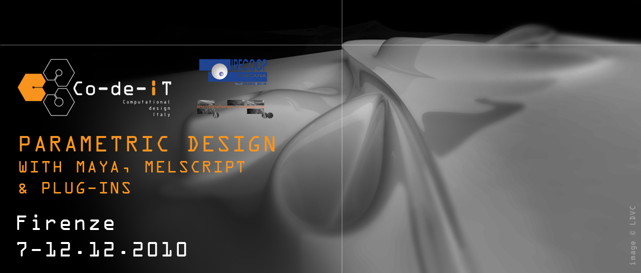 Parametric Design with Maya, MELscript & plug-ins