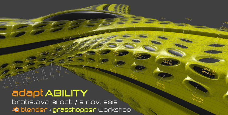 adapt.ABILITY – Blender + Grasshopper workshop – Bratislava