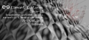 Elegant Ecotones - GH Workshop Bologna