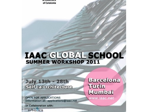 IaaC Global School – self(a)rchitecture - Summer workshop – Turin July 2011