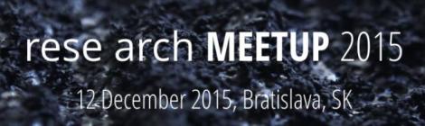 "Co-de-iT at ""rese arch MEETUP 2015"" in Bratislava"